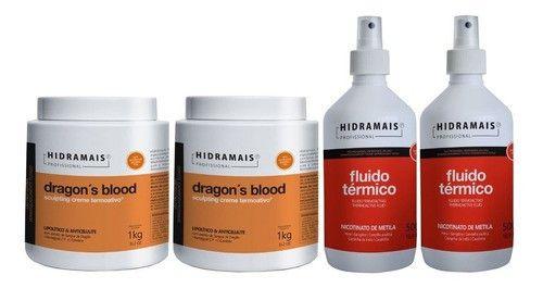Kit Hidramais Profissional 2dragons Blood 1kg+2 Fluido 500g