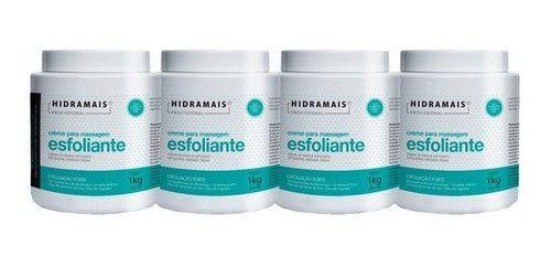 Kit Hidramais- 4 Cremes Esfoliante Forte Murumuru 1kg