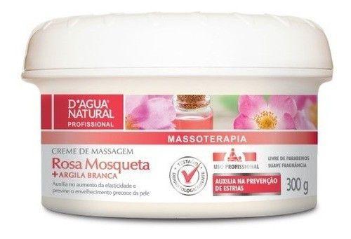 Creme Massagem Gestante Rosa Mosqueta 300g Dagua Natural