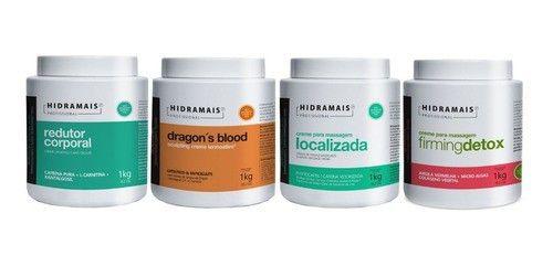 Kit Hidramais Redutor Cafeina+localizada+dragon+firmingdetox