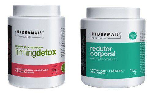 Kit Hidramais Firmingdetox + Redutor Corporal C/ Cafeina 1kg
