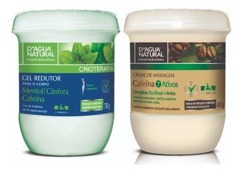 Kit Dagua Natural Gel Redutor 750g + Cafeina 7 Ativos 650g
