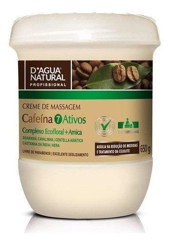 Creme De Massagem Cafeina 7 Ativos 650g Dagua Natural
