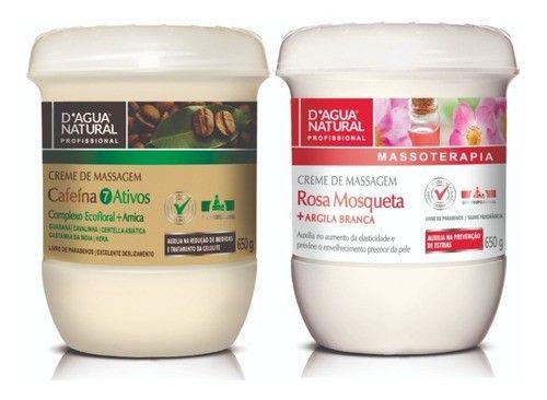 Kit Dagua Natural Cafeina 7 Ativos 650g + Rosa Mosqueta 650g