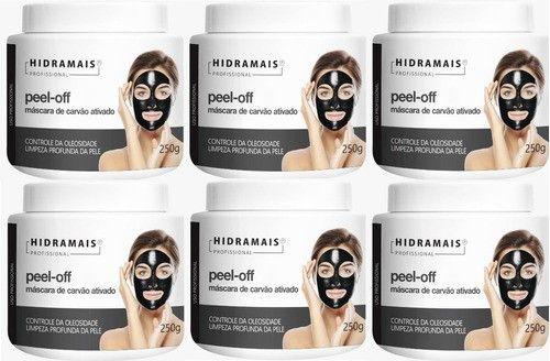 Mascara Peel-off Carvão Ativado 250g Hidramais - 6 Unidades