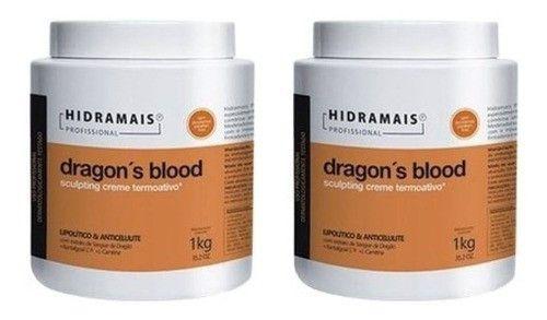 Combo 2 Hidramais Dragons Blood 1kg Creme Massagem Corporal