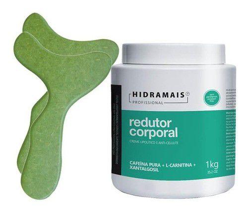 Kit Redutor Corporal Lipolitico Hidramais 1kg + Pantalas