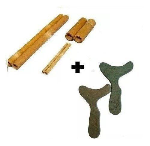 Kit Massagens Modeladora Bambu + Pantala