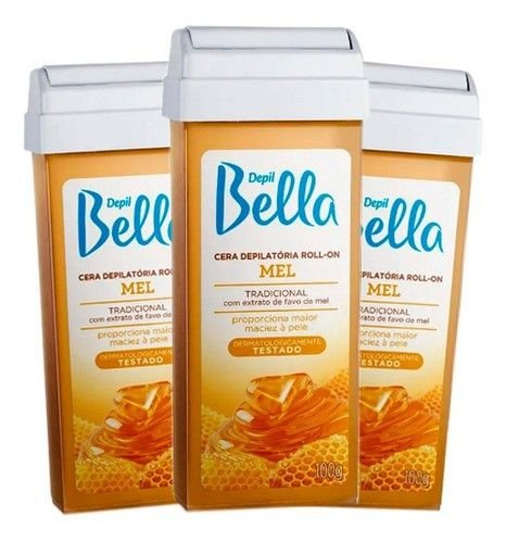 Refil Cera Depilatoria Roll-on 100g Depil Bella - 3 Unidades
