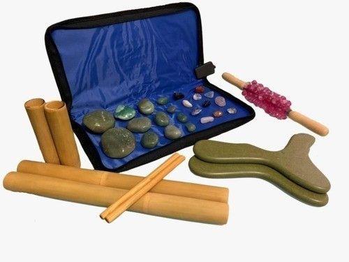 Kit Massagens Com Pedras Quentes Quartzo Verde 220v Completo