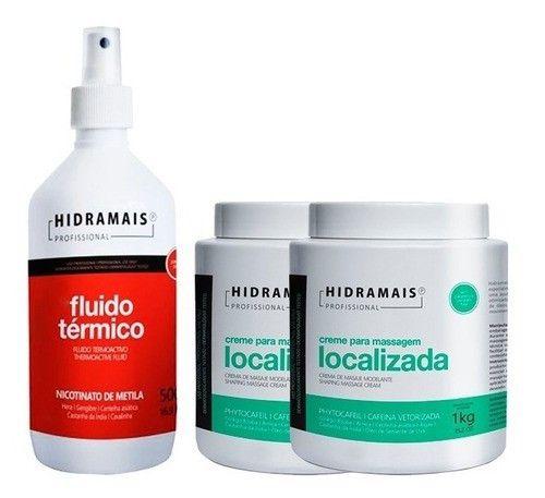 Kit 2 Cremes Massagem Localizada + Fluido Termico Hidramais