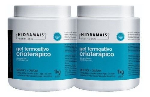 Kit 2 Unid Gel Termoativo Crioterapico Hidramais 1kg