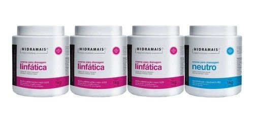 Kit Hidramais 3 Drenagem Linfatica + 1 Neutro 1 Kg