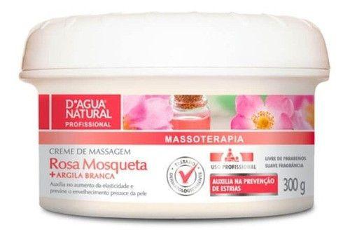 Kit 3 Creme Massagem Rosa Mosqueta 300g Dagua Natural