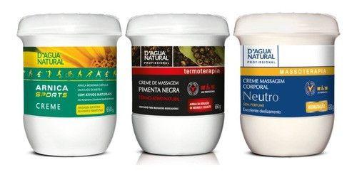 Kit Dagua Natural P. Negra + Neutro + Arnica Sports 650g