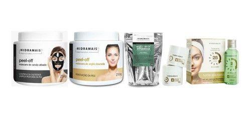 Kit Carvao Ativado+argila Dourada+argila Verde+spa Facial