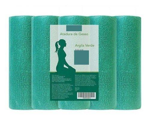 Atadura Gessada Estetica Redução De Medidas Argila Verde