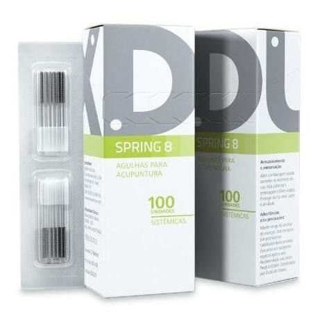 Spring 8 Agulha Sistemica Para Acupuntura 100un Dux