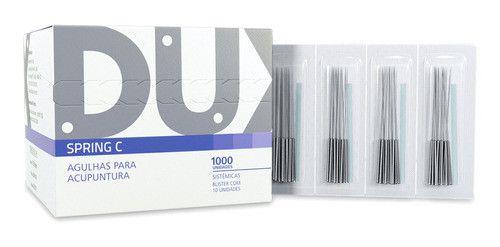 Agulhas Sistemicas Acupuntura Spring C C/1000 0,25x30mm Dux
