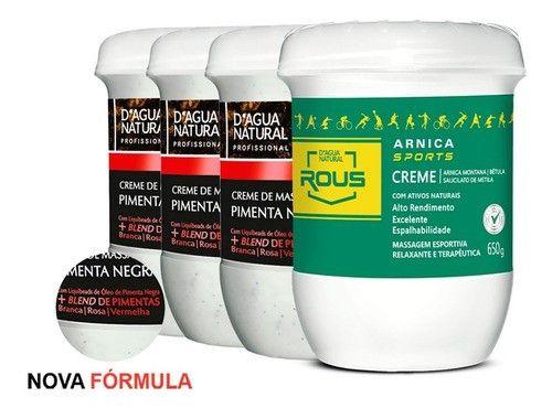 Kit 03 Pimenta Negra 650g + Arnica Sports 650g Dagua Natural