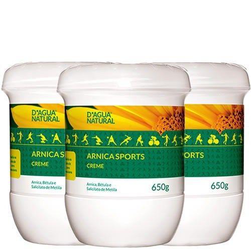 3 Dagua Natural Creme Massagem Betula Arnica E Metila 650g