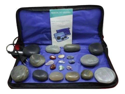 Kit Pedras Quentes Em Agata + Bolsa Aquecimento 110v Estek