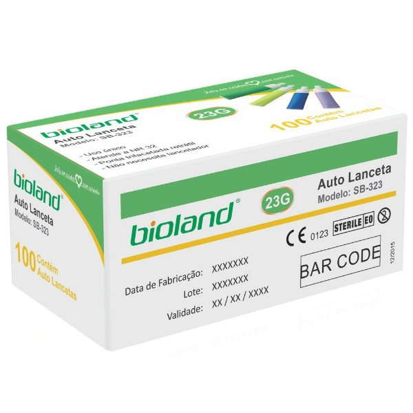 Auto Lanceta Retratil 21g Caixa Com 100 Unidades - Bioland
