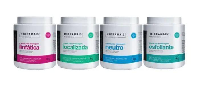 Kit Hidramais Drenagem+localizada+esfoliante+neutro  1kg