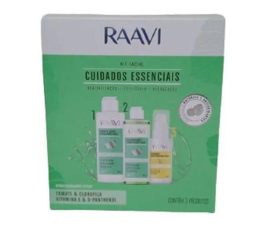 Kit Facial Raavi Cuidados Essenciais 3 Produtos