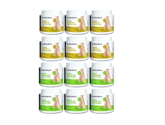 Kit Hidramais 6 Restautor Pes + 6 Esfoliante Pes 250g