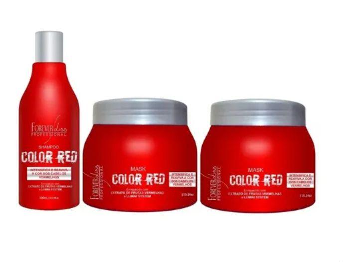 Forever Kit Color Red Shampoo + 2 Mascaras Cabelo Vermelho