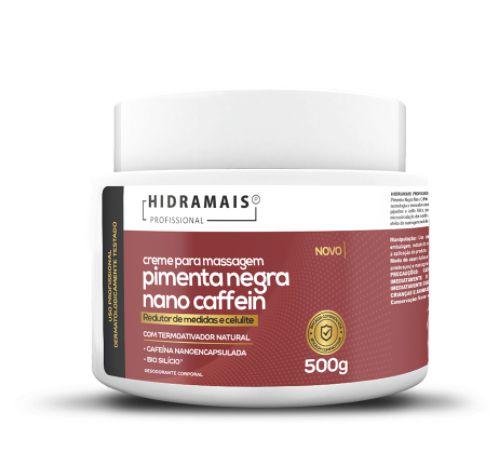 Creme Pimenta Negra Nova Formula Nano Caffein 500g Hidramais
