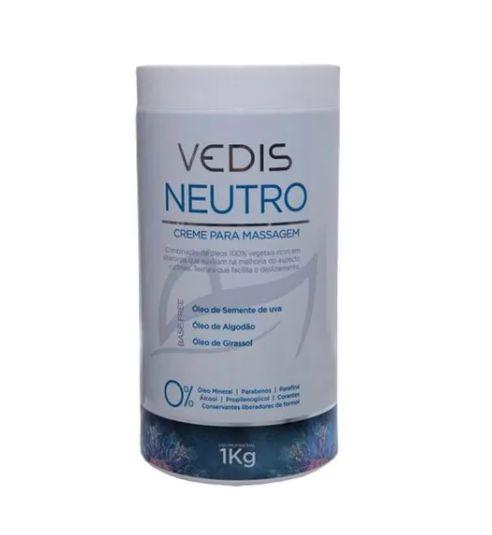 Creme De Massagem Neutro Sem Perfume 1kg Vedis