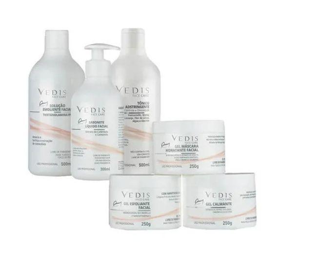 Kit Completo Limpeza De Pele Profissional Vedis - 6 Itens