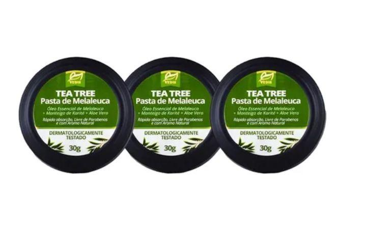 Kit 3 Pomada Melaleuca Tea Tree 30g Vedis Para Acne