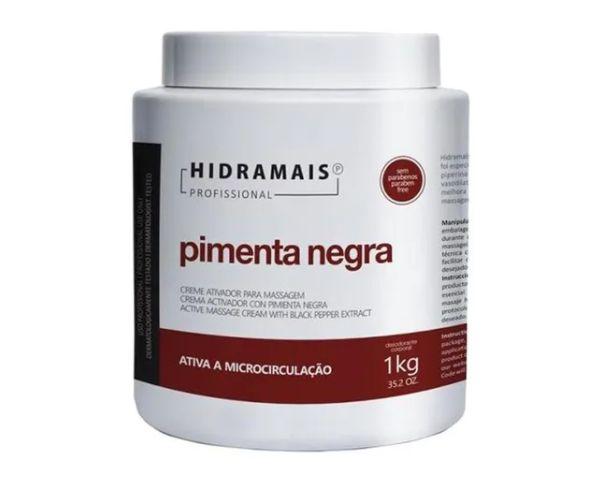 Hidramais Creme Ativador p/ Massagem Pimenta Negra 1kg
