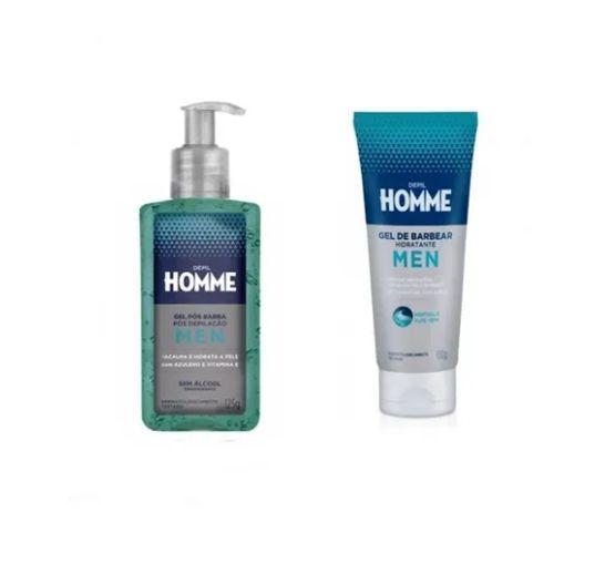 Gel De Barbear Hidrante E Gel Pos-barba Depilação Depilhomme