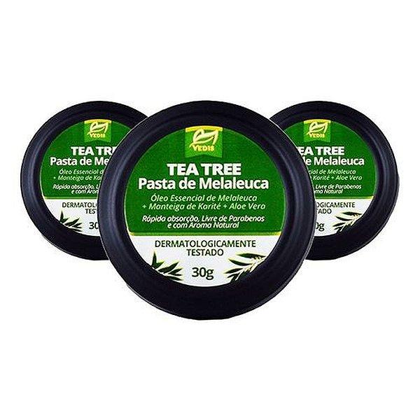 Pasta De Melaleuca Tea Tree Oil 3 X 30g - Vedis