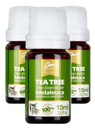 Oleo Essencial Melaleuca Tea Tree Oil 3 X 10ml - Vedis