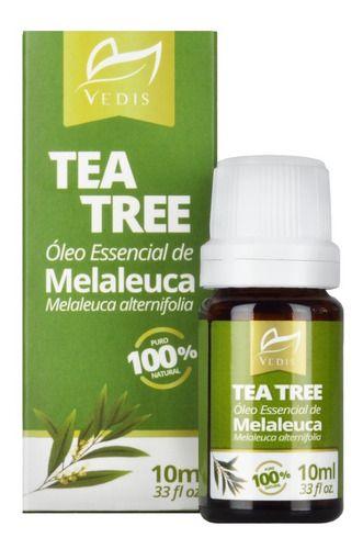 Oleo Essencial De Melaleuca Tea Tree 100% Puro 10ml Vedis