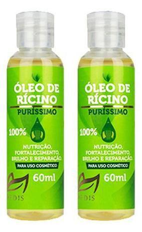 Oleo De Ricino Crescimento 100% Puro 2 X 60ml - Vedis