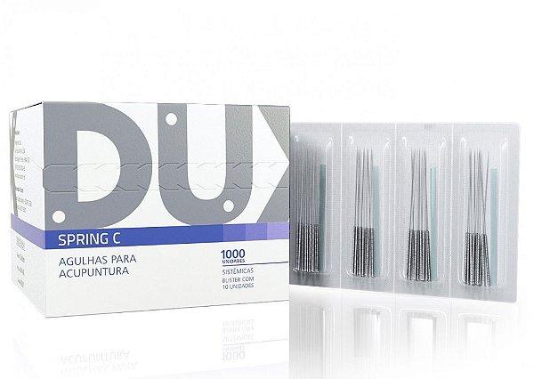 Agulhas Sistemicas Acupuntura Spring C C/1000 0,25x40mm Dux