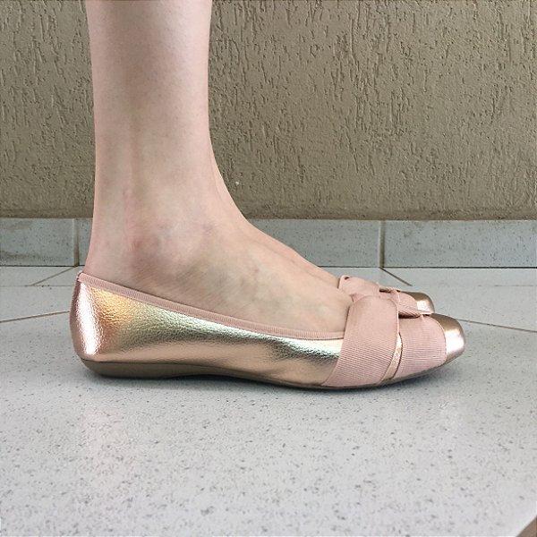 Sapatilha Metalizada Estilo Bailarina Sua Cia