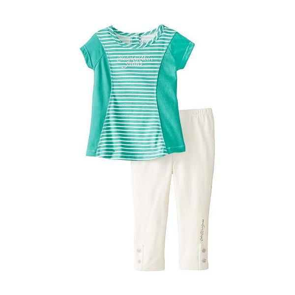Calvin Klein - Conjunto Infantil - Túnica e Legging - Roupa infantil ... c4dd60b4ad