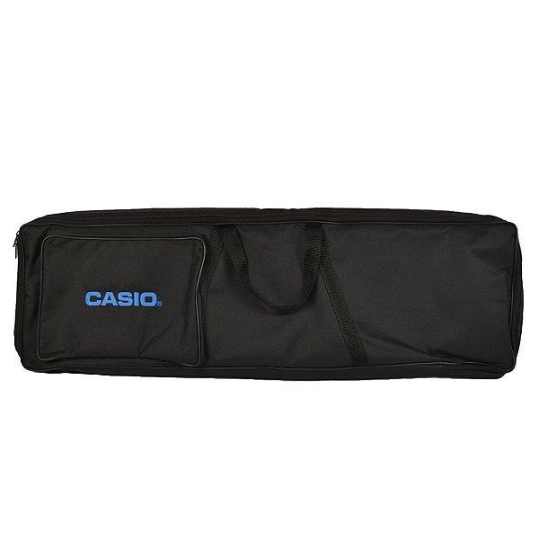 """Capa para Teclado CT-S200/CT-S300 Super Luxo Azul """"Bordado Casio"""" - JN"""