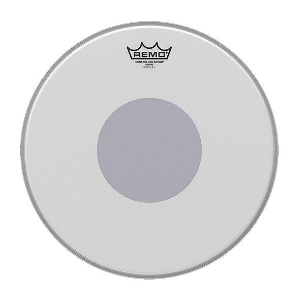"""Pele p/ Caixa Porosa 14"""" Controlled Sound c/ Circulo Preto CS-0114-10 - Remo"""