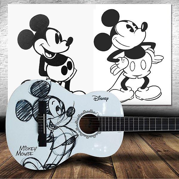 Violão Infantil Acústico Mickey Grafite Oficial Disney MGR-1 - PHX