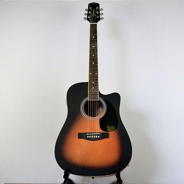 Violão Elétrico Folk Cutaway GDC-1 CEQ VSB-S Vintage Sunburst Satin - Giannini