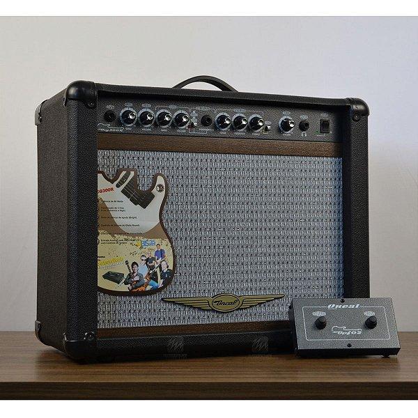 """Amplificador para Guitarra OCG-300R CR 1x10"""" 60W Foot Duplo - Oneal"""
