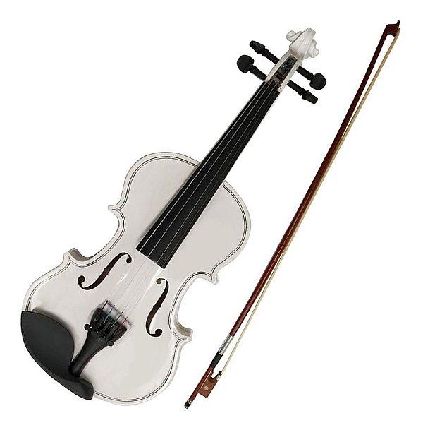 Violino 1/4 VDM14 WHITE Branco - Acoustic